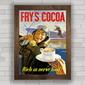 QUADRO VINTAGE FRY'S COCOA 1940