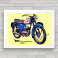 QUADRO DECORATIVO MOTO BSA D7