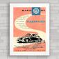 QUADRO VW FUSCA 1956 ARGENTINA