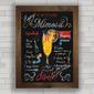 CONJUNTO DE QUADROS DECORATIVOS DE DRINKS COM FUNDO CHALKBOARD