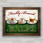 QUADRO CLASSIC ITALIAN COFFEE
