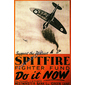 QUADRO RETRÔ SPITFIRE FIGHTER FUND 1940