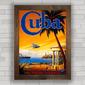 Quadro decorativo retrô Cuba