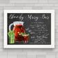 QUADRO DECORATIVO CHALKBOARD 48 - BLOODY MARY BAR