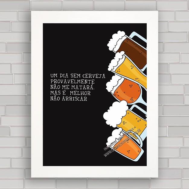 Quadro Decorativo Frases 5 Cerveja