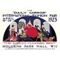 QUADRO DECORATIVO INTERNATIONAL FASHION FAIR LONDON 1923