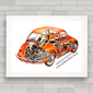 QUADRO VW FUSCA X-RAY