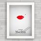 QUADRO MINIMALISTA MARILYN KISS