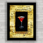 QUADRO DECORATIVO PARA BAR COSMOPOLITAN COCKTAIL