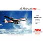 QUADRO TWA BOEING 707 1960