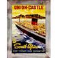 QUADRO DECORATIVO UNION CASTLE SOUTH AFRICA 1930s