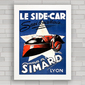 QUADRO SIDE CAR SIMARD FRANÇA