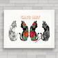 QUADRO DECORATIVO GATOS 60 - CATS ART