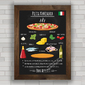 QUADRO DECORATIVO CHALKBOARD 102 - PIZZA MARINARA