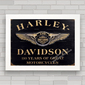 QUADRO HARLEY DAVIDSON WOOD