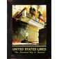 QUADRO DECORATIVO UNITED STATES LINES 1923