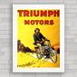 QUADRO RETRÔ TRIUMPH MOTORS