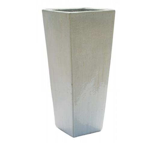 Vaso Vietnamita Trapézio<br> 37x90 cm- Artic White.
