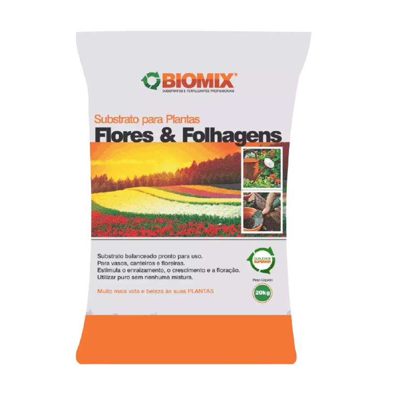 Substrato Flores e Folhagens Biomix 20 Kg