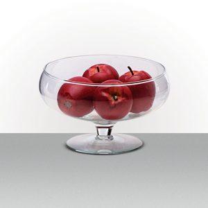 Vaso de Vidro Taça Baixa<br>22 x 13 cm