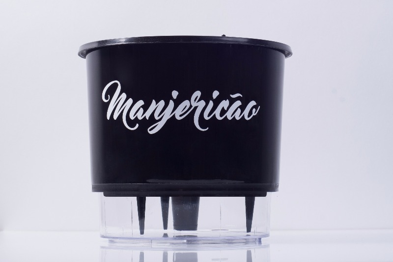 Vaso Autoirrigável Manjericão <br> Ø 16cm x 14cm