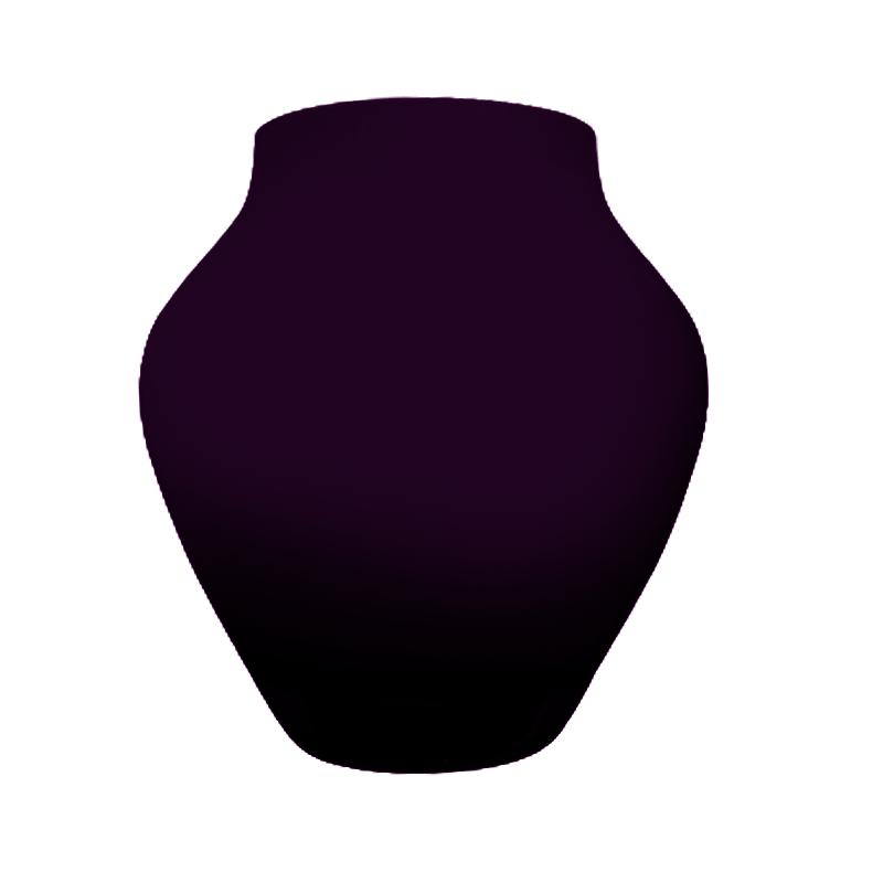 Vaso de vidro anfôra Dark Plum (uva) - Importado da Polônia - SELECIONE O TAMANHO: