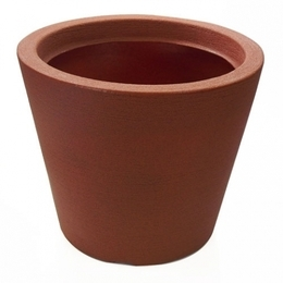 Vaso de Polietileno Cone Baixo<BR> 30X25 cm. Selecione a cor: