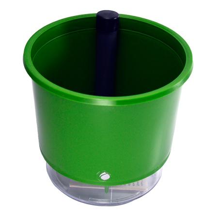 Vaso Autoirrigável Verde <br> Ø 16cm x 14cm