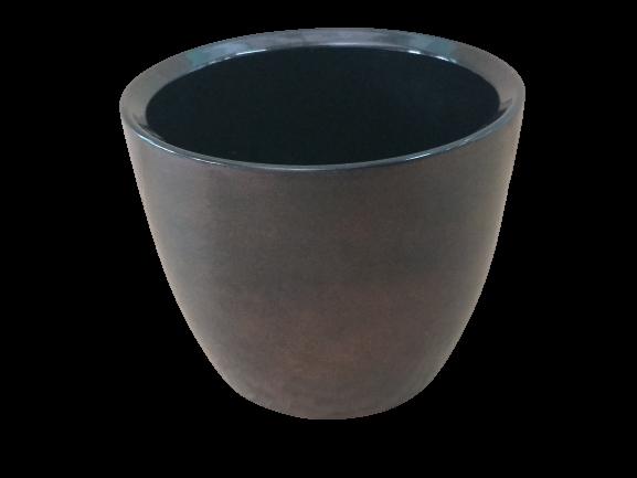 Cachepô de cerâmica cobre