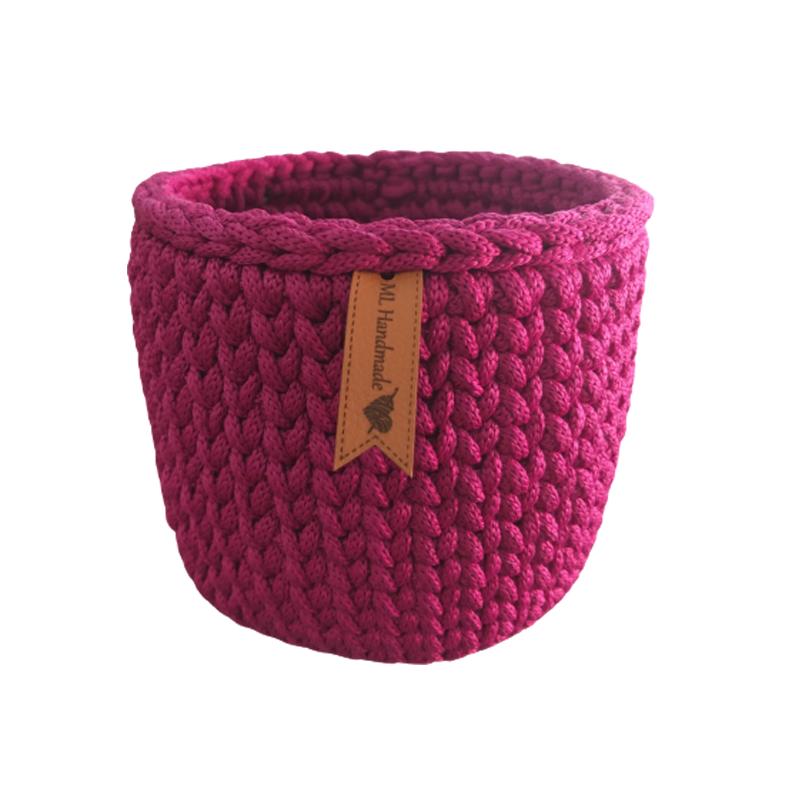 Cachepô Púrpura redondo em corda de poliéster