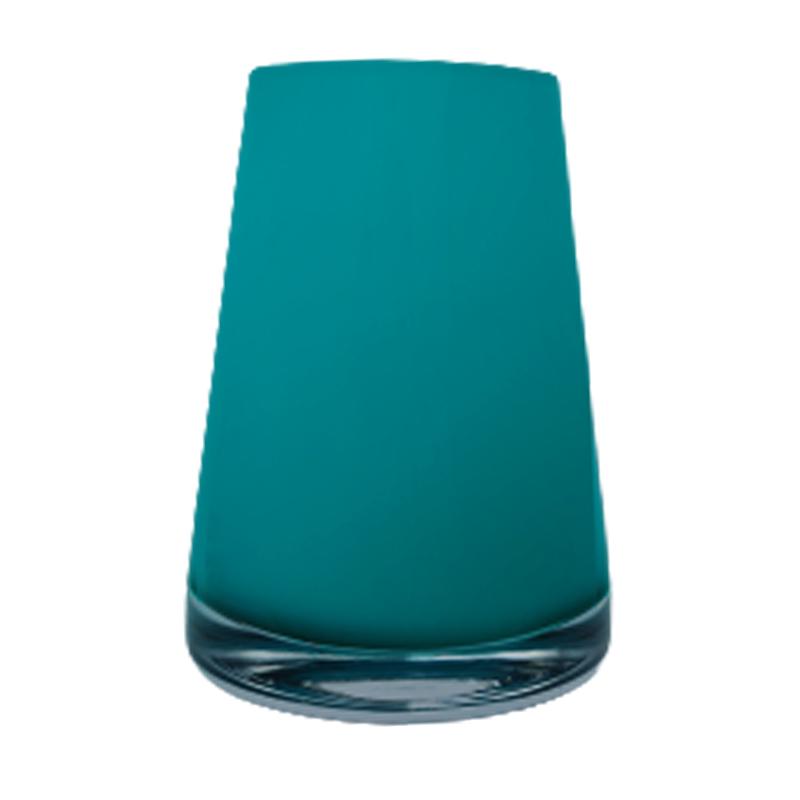 Vaso de vidro cone Baltic Green (turquesa)  - Importado da Polônia