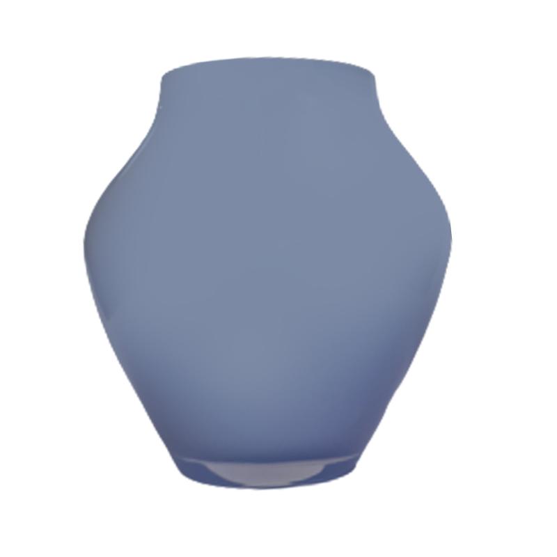 Vaso de vidro anfôra Grey blue (azul claro) - Importado da Polônia