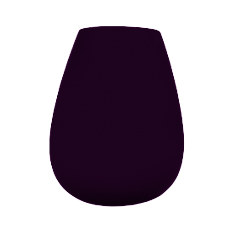 Vaso de vidro gota Dark Plum (uva) - Importado da Polônia - SELECIONE O TAMANHO: