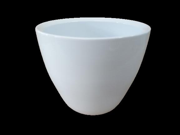 Cachepô de cerâmica branco