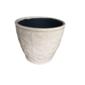 Cachepô de cerâmica creme