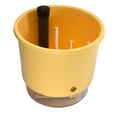 Vaso Autoirrigável Creme <br> Ø 16cm x 14cm