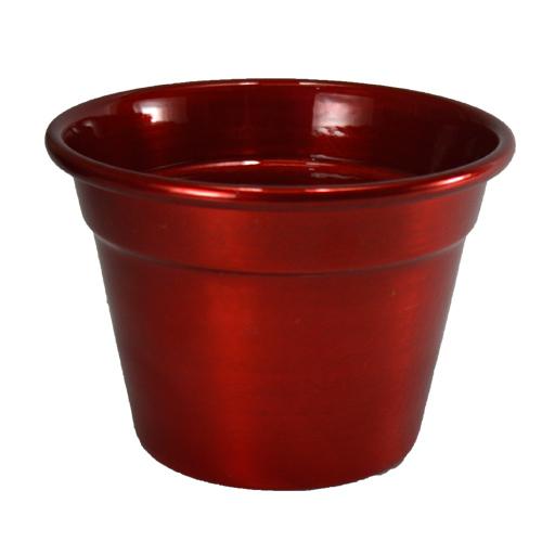 Cachepô de Alumínio Vermelho Metálico- Selecione o tamanho: