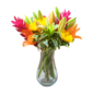 Assinatura Floral - 4 arranjos florais com 1 vaso de vidro incluso