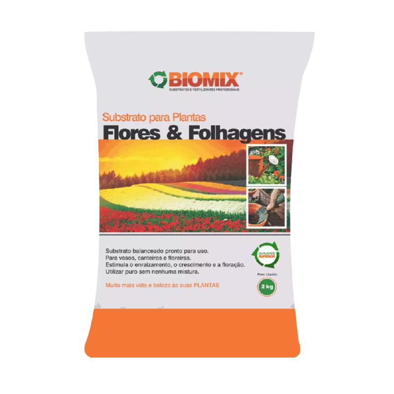 Substrato Flores e Folhagens Biomix 2 Kg