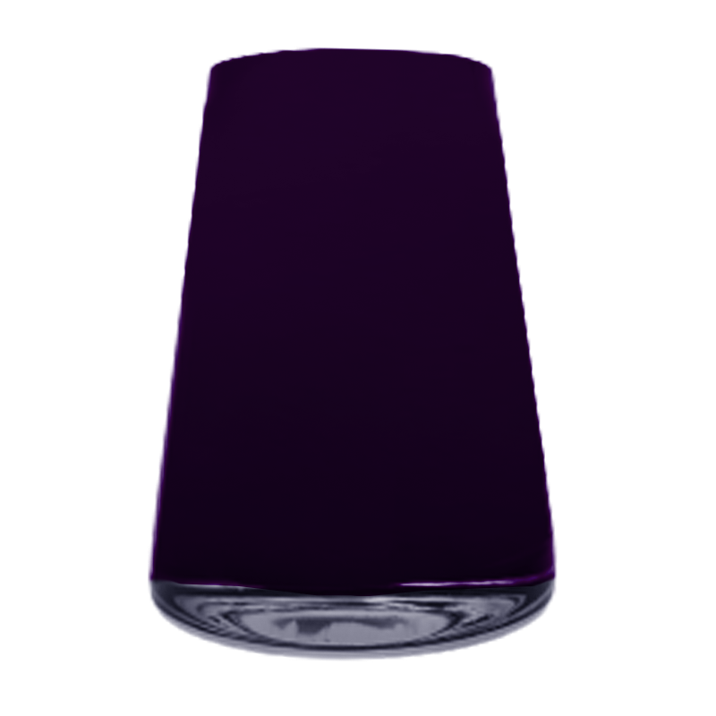 Vaso de vidro cone dark plum (uva) - Importado da Polônia