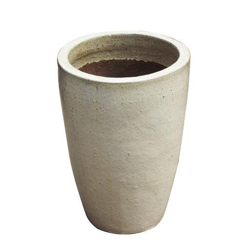Vaso Vietnamita Redondo <BR> 36x43 cm- Sand.