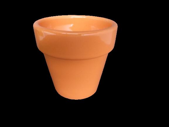 Mini cachepô de cerâmica laranja