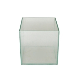 Cachepô de Vidro <BR> 10x10x10 cm