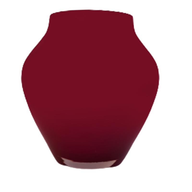 Vaso de vidro anfôra Ruby (vermelho) - Importado da Polônia