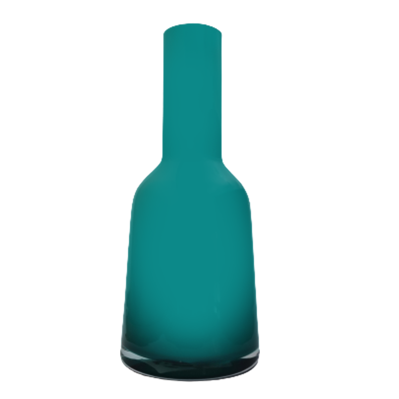 Vaso garrafa de vidro - Importado da Polônia - SELECIONE A COR: