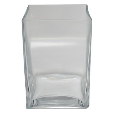 Vaso de Vidro Flora Quadrado<BR> 12x12x18 cm