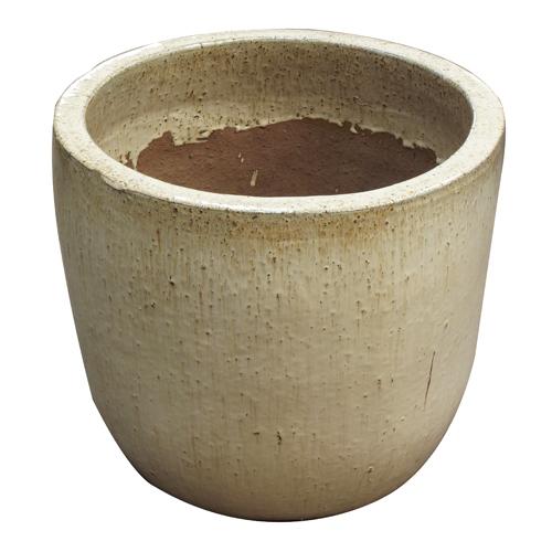 Vaso Vietnamita Redondo<BR> 33x31cm- Sand.