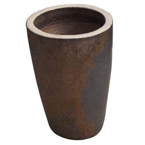 Vaso Vietnamita Redondo <BR> 44x57 cm- Heavy Metal.