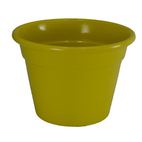 Cachepô de Alumínio Amarelo  <BR> Selecione o tamanho: