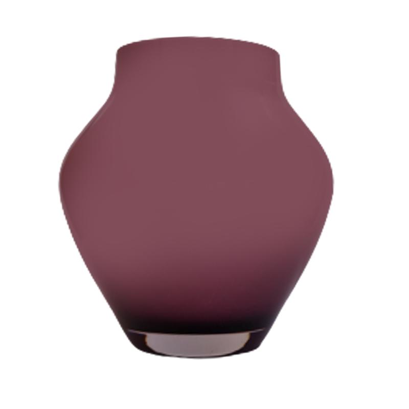 Vaso de vidro anfôra Viollet (vinho) - Importado da Polônia
